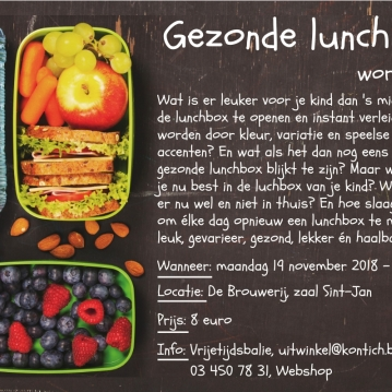 Workshop gezonde lunchbox Kontich